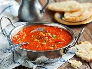 Зеленчукова супа от нахут и домати по индийски